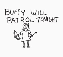Buffy Will Patrol Tonight by Paul Elder