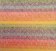Rainbow Zig Zags  by BellaCullinan