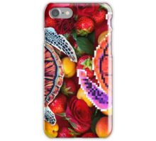 Turtles in a fruit salad iPhone Case/Skin