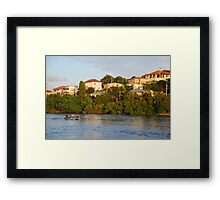 Life on the Tweed Framed Print