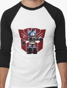 Transformers optimus prime deformed Men's Baseball ¾ T-Shirt