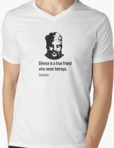 Quote By Confucius Mens V-Neck T-Shirt