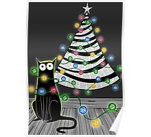 Paper Christmas Tree Poster