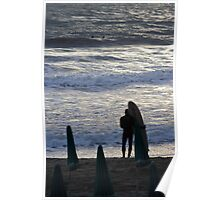 Surfer's Waiting,Levanto,Italy Poster