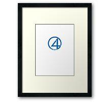 fantastic 4 logo Framed Print