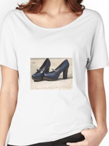 Black Shoes Women's Relaxed Fit T-Shirt