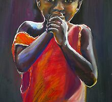 Shy Malawian girl Pastel Portrait by Shirlroma