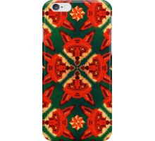 Geometric Fox Pattern iPhone Case/Skin
