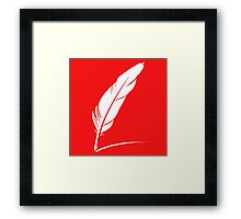 feather white Framed Print