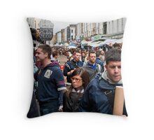 The Crush at Portobello Market, London, UK.  Throw Pillow
