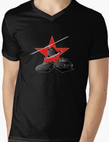 80's Heroes  - Dark Version Mens V-Neck T-Shirt
