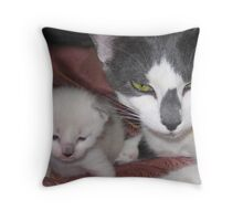 Protection of a mother Throw Pillow