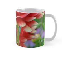 Red and yellow dahlias Mug
