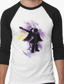Super Smash Bros Purple Dark Pit Silhouette Men's Baseball ¾ T-Shirt