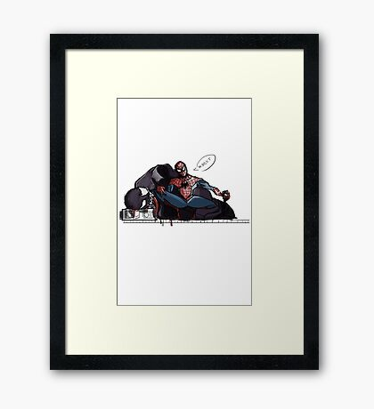 Spider-man selfie Framed Print