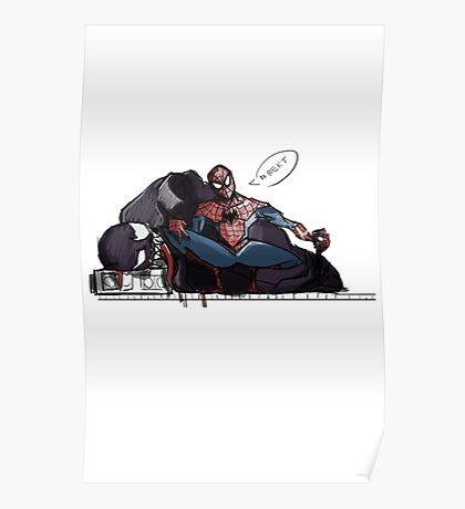 Spider-man selfie Poster
