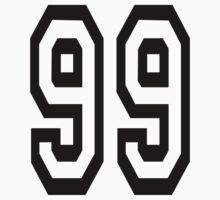 TEAM SPORTS, NUMBER 99, Ninety Nine, 99, Competition Kids Clothes