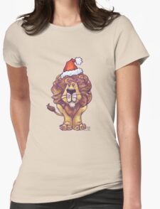 Lion Christmas Womens Fitted T-Shirt