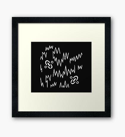 Born (White) Framed Print