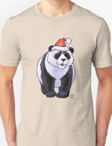 Panda Bear Christmas Unisex T-Shirt