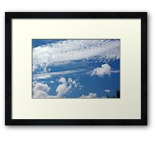 Fishbone Cloud Framed Print
