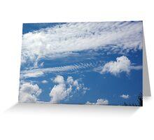 Fishbone Cloud Greeting Card