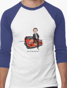 Ashes to Ashes Gene Hunt 'Fire Up the Quattro' Men's Baseball ¾ T-Shirt