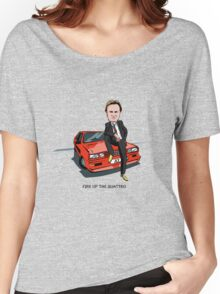 Ashes to Ashes Gene Hunt 'Fire Up the Quattro' Women's Relaxed Fit T-Shirt