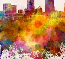 Cleveland skyline in watercolor background Sticker