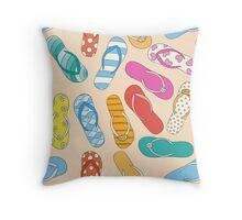 Sandals Pattern Throw Pillow