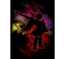 Super Smash Bros Red Dark Pit Silhouette Photographic Print