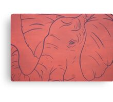 Simplistic Elephant Painting Canvas Print