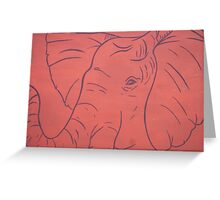 Simplistic Elephant Painting Greeting Card