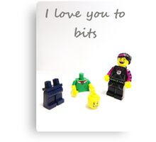 Lego love you to bits Canvas Print