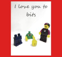 Lego love you to bits Baby Tee