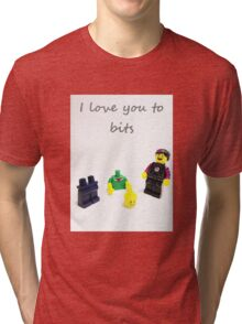 Lego love you to bits Tri-blend T-Shirt