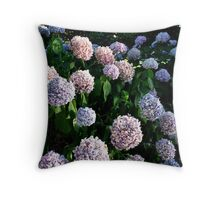 Purple Hydrangea Blooms Throw Pillow