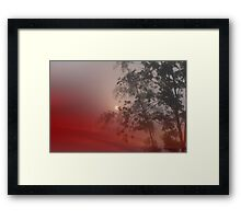 welcome...in the morning sun. Framed Print