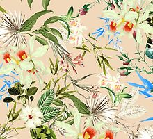 Retro Tropical Flowers by sale
