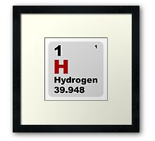Hydrogen Periodic Table of Elements Framed Print