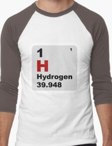 Hydrogen Periodic Table of Elements Men's Baseball ¾ T-Shirt