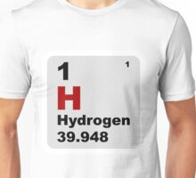 Hydrogen Periodic Table of Elements Unisex T-Shirt