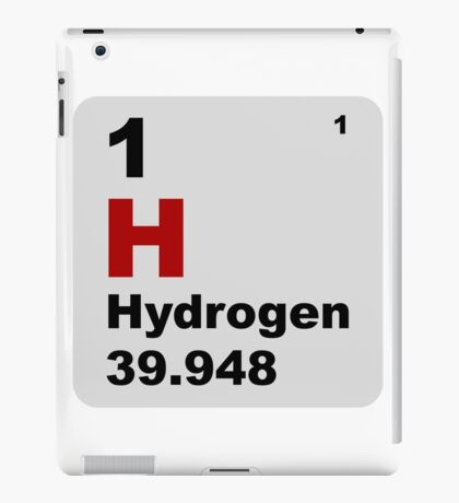 Hydrogen Periodic Table of Elements iPad Case/Skin