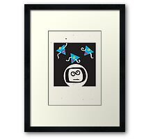 spaced man Framed Print