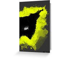 Paint Splatter Batman Greeting Card
