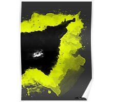 Paint Splatter Batman Poster