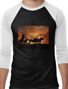 """Award winning image  """"Forever Free"""" Men's Baseball ¾ T-Shirt"""