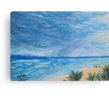 Sun, Sea, and Storm ~ Playa del Carmen in Pastels Canvas Print