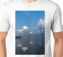 Cool Pearly Clouds Over the Lake Unisex T-Shirt