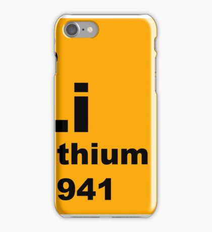 Lithium Periodic Table of Elements iPhone Case/Skin